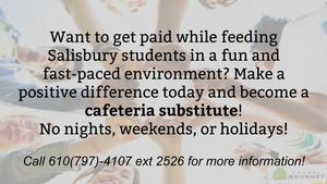 We are looking for cafeteria subs!