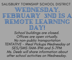 Fully Remote Learning Day - Wednesday February 3