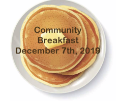 Join us for the FREE Community Breakfast December 7, 2019 @ SHS!