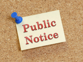 DID YOU KNOW? -- Notice of Public Hearing