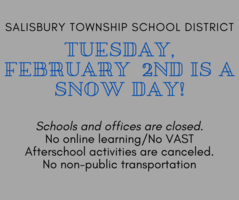 Tuesday - Feb 2 - Snow Day! Offices and Schools Closed