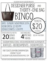 Nov. 10 Designer Purse and Thirty-One Bag Bingo