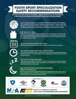 Youth Sports Specialization Safety Recommendations