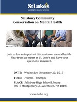 Nov. 20 St. Luke's University Health Network Event