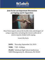 9/26 Vaping and E-Cigarettes Event @ SHS